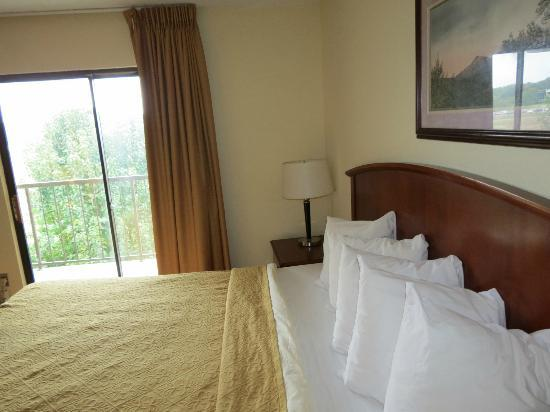 Quality Inn & Suites River Suites: king side room with balcony