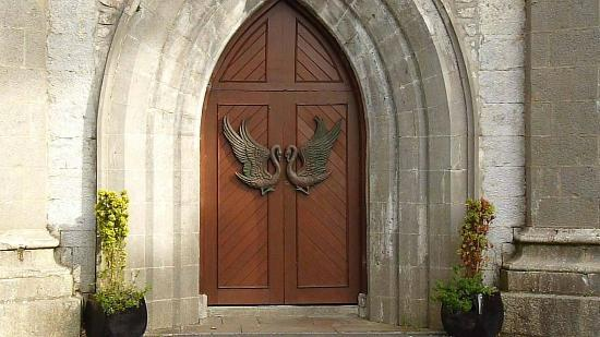 Yeats's Grave: Door of Parish Church, Drumcliffe, Co Sligo.