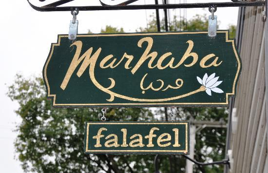 Marhaba Welcome Sign