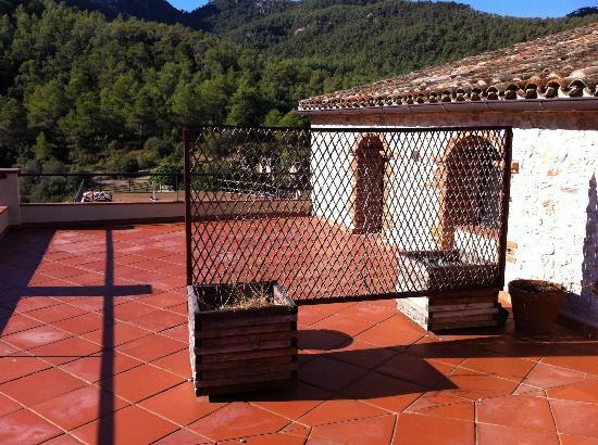 Hotel La Heredad Mas Collet: Terraza de la habitación del hotel ****