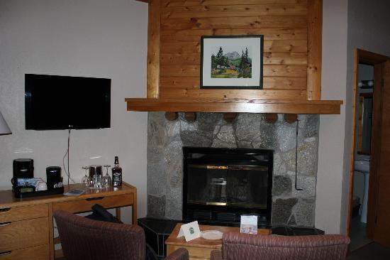 Bear Hill Lodge: fireplace