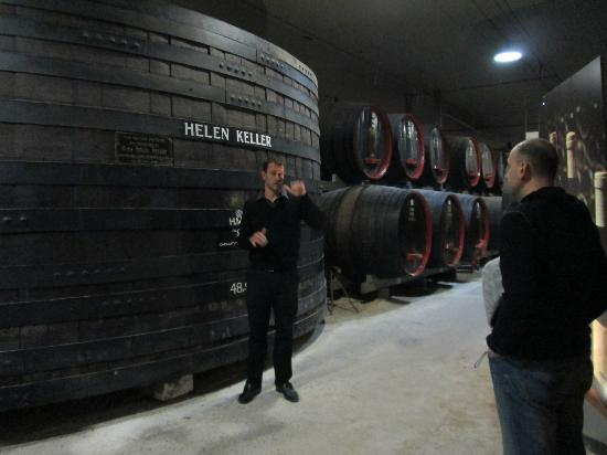 Penfolds Magill Estate Cellar Door: This giant barrel has been named in memory of Helen Keller