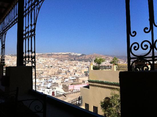 Riad Le Calife: View from breakfast terrace