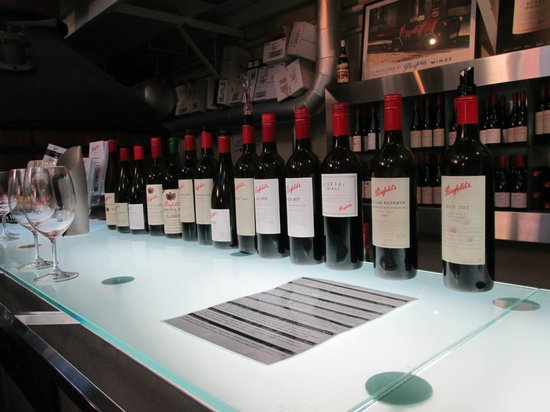 Penfolds Magill Estate Cellar Door: These are some of the wines tasted, I lost count at this point !!