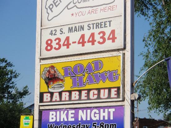 Road Hawg BBQ: Road Hawg sign