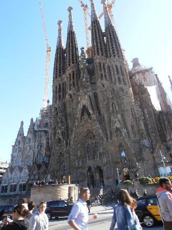 Barcelona, España: Sagrada familia-nacimiento-