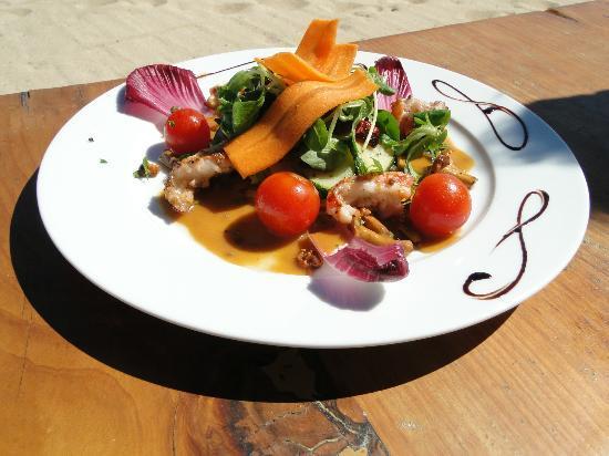 Shellona - Saint Tropez : Aqua Club à Ramatuelle : plat servi au restaurant