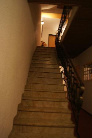 Hotel Schwarzer Bär: Escadas!