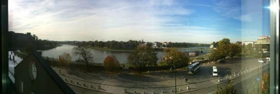 Sheraton Grand Krakow: River view from room