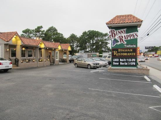 Front Picture Of Benny Rappa S Trattoria North Myrtle