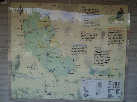 Parque Arví: Mapa parque Arvi