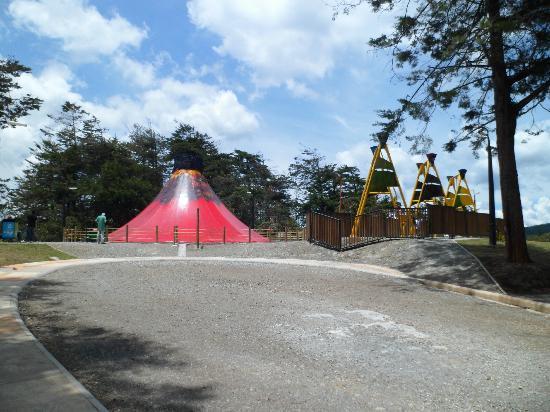 Parque Arví: Final del parque Comfama Volcan y columpios gigantes