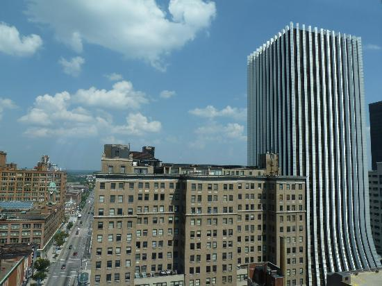 Hyatt Regency Rochester: Another view from my room, Xerox on the right of the frame