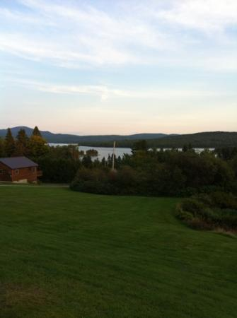 Cabins at Lopstick: view from the porch