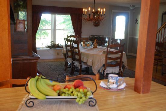 Parent Farmhouse B&B: Dinning at the Parent FarmHouse