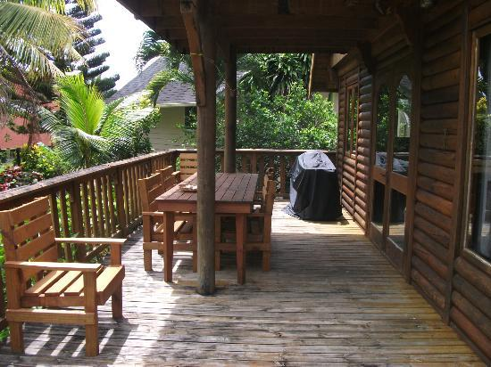 Manea Beach Villas: decking of our villa