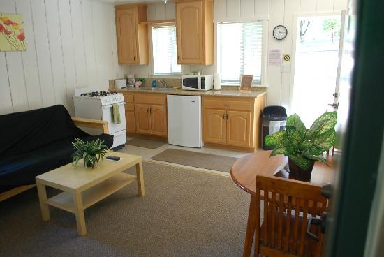 Gold Country Campground and Resort: Cabin #2 kitchenette/living room