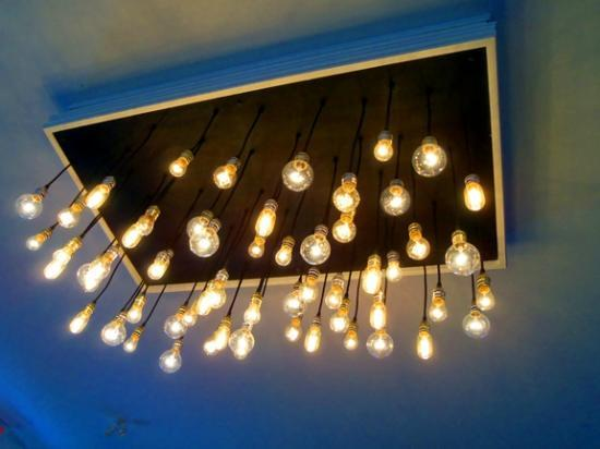 Alice's Village Cafe : The funky Chandelier