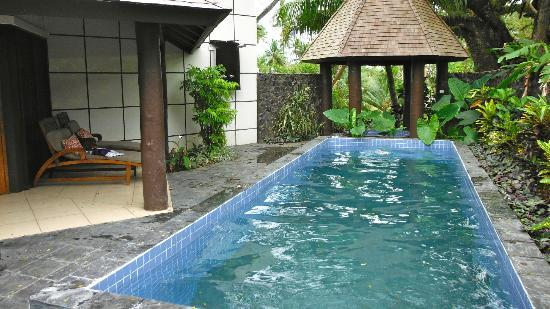 Koro Sun Resort and Rainforest Spa: our private pool an hot tub