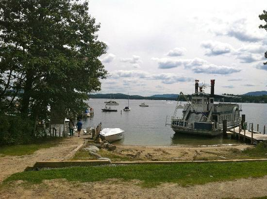 View from lawn at the Wolfeboro Inn