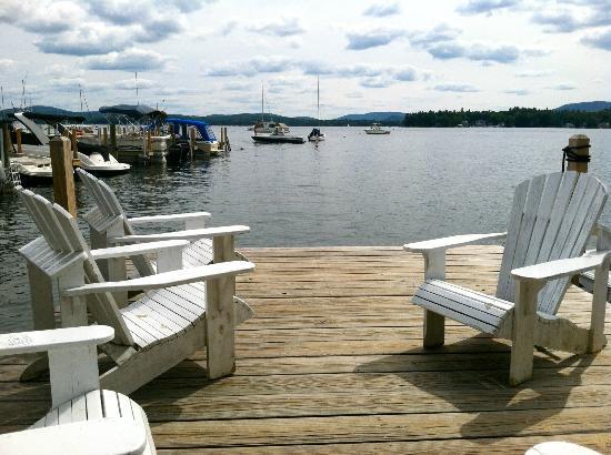 ولفيبورو إن: Wolfeboro Inn private dock 