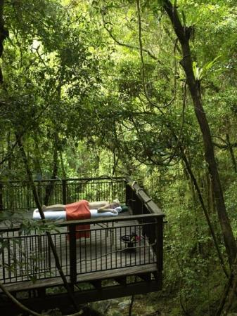 Daintree Wellness Spa: Private treatment at the lodge's waterfall
