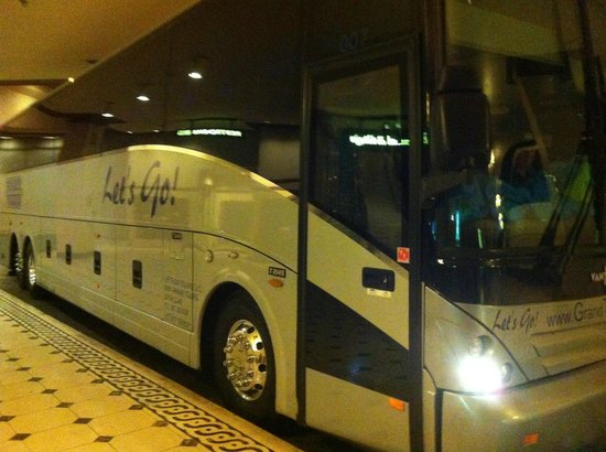 "GC Tours: Picture of the GCTours Bus with the sign ""Let's Go!"""