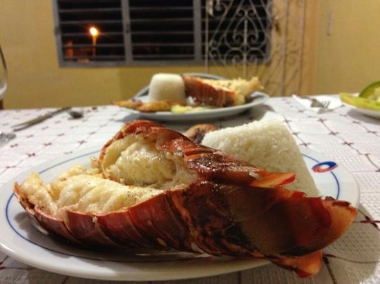 Hostal Dr. Suarez y Sra. Addys: lagosta maravilhosa