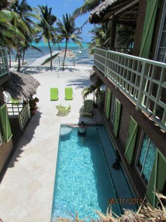 Caye Casa: View from second story landing