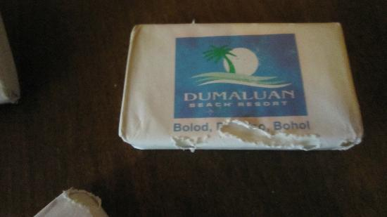 Dumaluan Beach Resort: old bar of soap gnawed by cockroaches