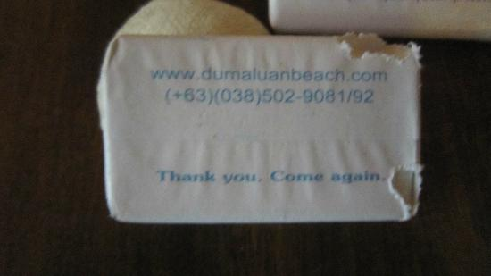 Dumaluan Beach Resort: old bar of soap from Dumaluan gnawed by cockroach