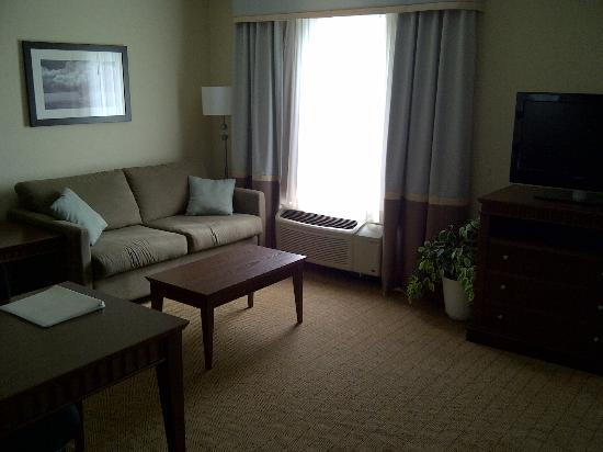 Hampton Inn & Suites by Hilton Saint John: Living area with Pull out couch