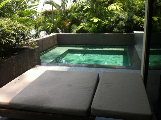 Capella Singapore: private refreshing plunge pool of the villa