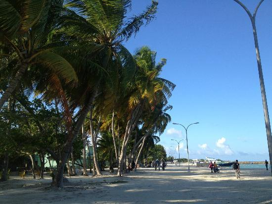 Stingray Beach Inn : Jetty point at Maafushi
