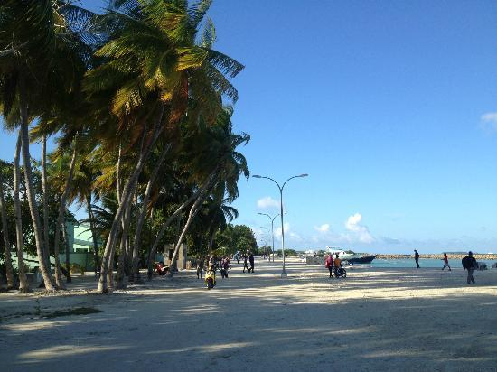 Stingray Beach Inn : Jetty area at Maafushi