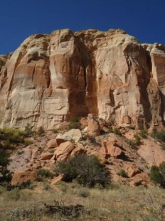 Ghost Ranch: View from the beginning of the Box Canyon Hike.