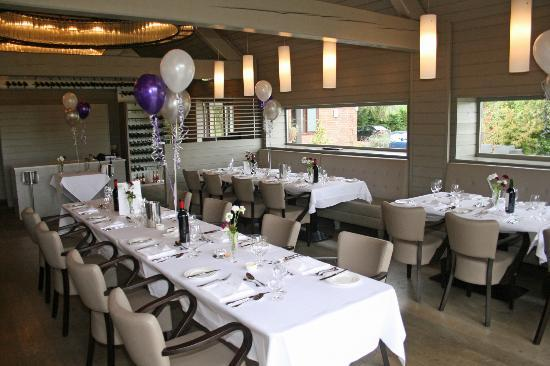 Wickham Vineyard: The restaurant ready for the celebration lunch