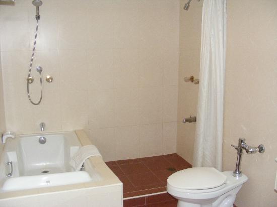 Bayview Park Hotel Manila: Bathroom with spa bath