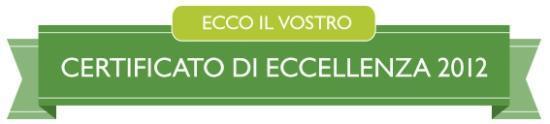 Sant'Angelo, İtalya: Grazie carissimi ospiti per il vostro apporto che ci ha permesso di ottenere il certificato
