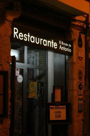 El Rincon de Antonio : the entry at night