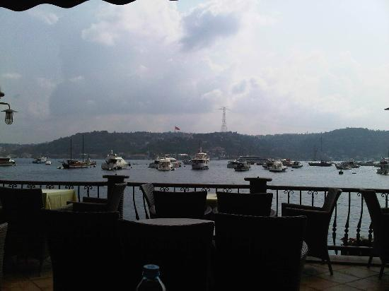 Bebek Hotel: Bosphorus from Terrace