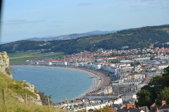 Great Orme: cable car and awesome view of Llandudno