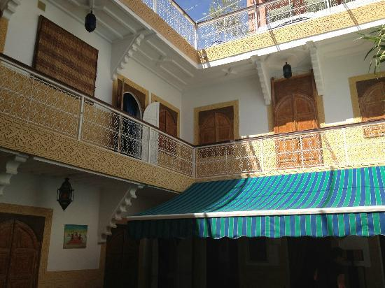 Riad Shaden: view from dining area