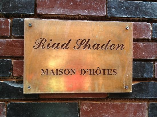 Riad Shaden: front sign