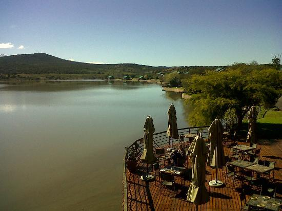 Buffelsdrift Game Lodge: The view from the top lounge area