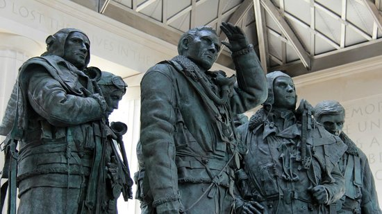 London, UK: The statues of seven bomber crew are at the heart of the memorial