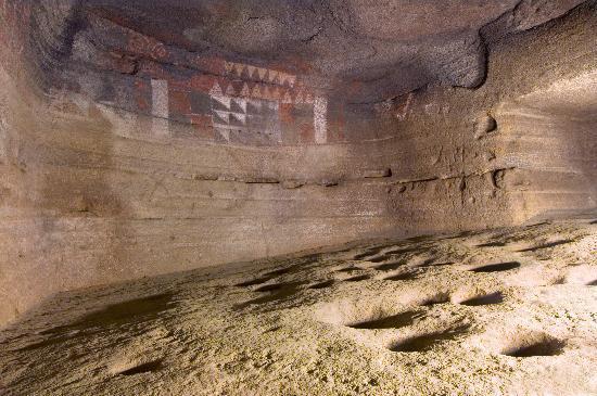 Museo y Parque Arqueologico Cueva Pintada : Detalle de la Cueva Pintada