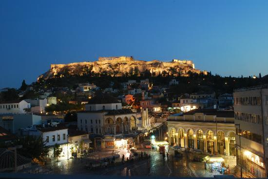 A for Athens: View from Room 32 at Night