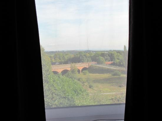 Premier Inn Manchester Bury Hotel: View of the bridge from our room