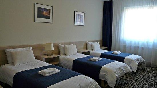 Kaunas City Hotel : Habitación triple